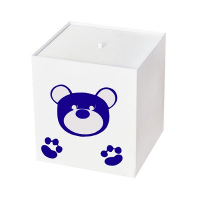 Lixeira Urso Imperial Azul Marinho Mdf