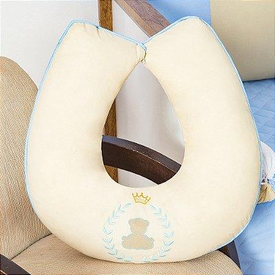 Almofada Amamentação Urso Teddy Azul Bebê
