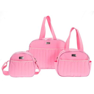 Conjunto de Bolsas Tutti Rosa 3 Peças