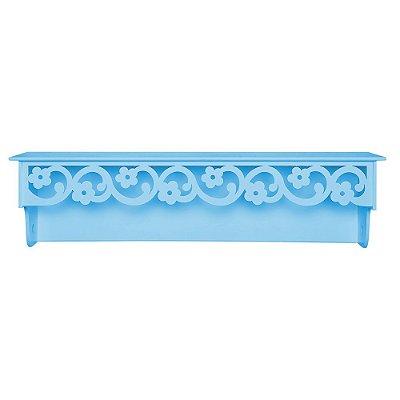 Prateleira Floral Azul Bebê MDF