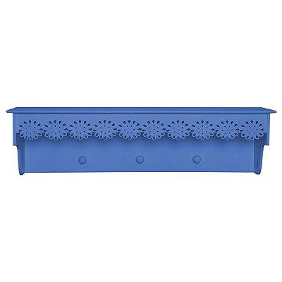 Prateleira Cabideiro Floresbela Azul Marinho MDF