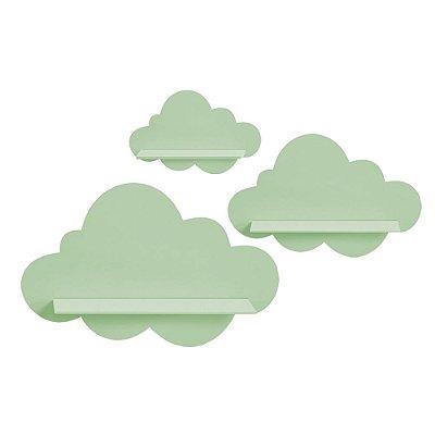 Kit de Prateleiras Nuvem Verde MDF