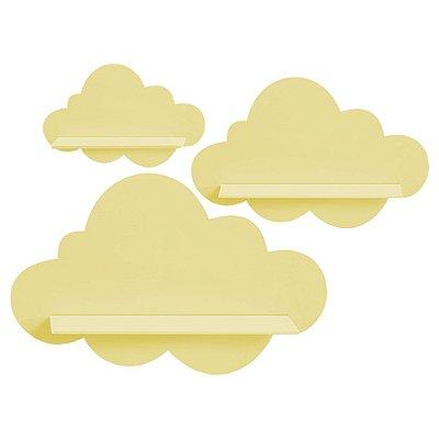Kit de Prateleiras Nuvem Amarelo MDF