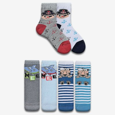 KIT DE MEIAS KIDS MENINO 6 PARES M TAM. 25 A 28