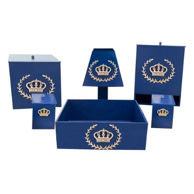 Kit Higiene Mdf Imperial Luxo Marinho