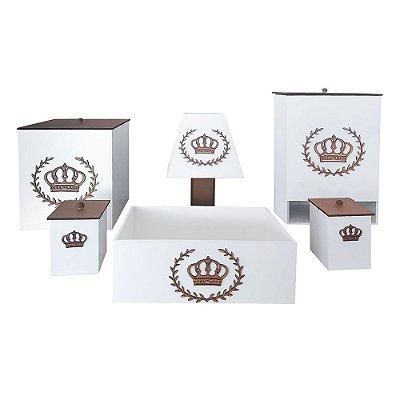 Kit Higiene Mdf Imperial Luxo Dourado
