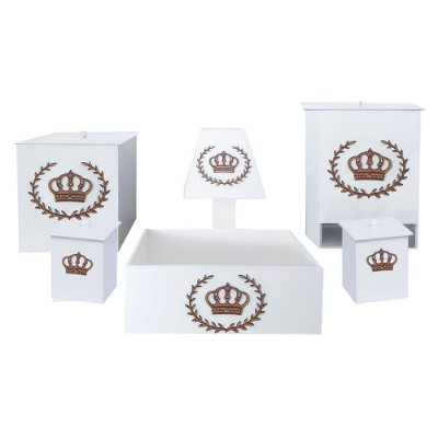 Kit Higiene Mdf Imperial Dourado