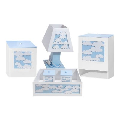 Kit Higiene Mdf Céu Azul Bebê