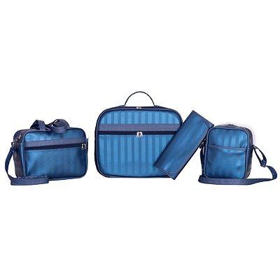 Conjunto de Bolsas Metalizadas Azul
