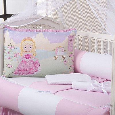 Kit Berço Princesa 9 Peças Rosa