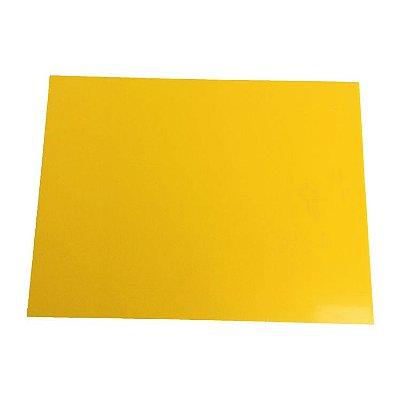 Acrílico 3mm  - Placa retangular 40x30cm Amarelo