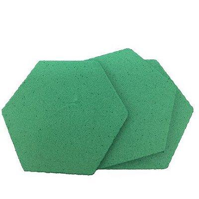 EVA Liso Verde Grama 1,6mm - Placa retangular  40x30cm 5 unidades