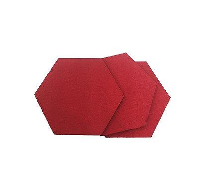 EVA Liso Vermelho 1,6mm - Placa retangular R 40x30cm 5 unidades