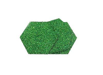 EVA Adesivado Verde Gliter 2mm - Placa retangular 30x40cm