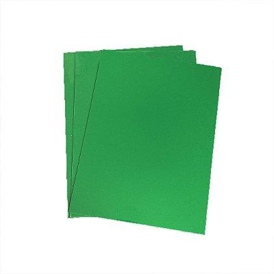 Acrílico 4mm - Placa retangular 40x30cm Verde Bandeira