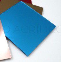 Acrílico 2mm 40x30cm Espelhado Azul