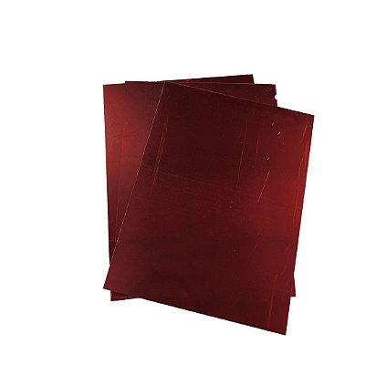 Acrílico 2mm 40x30cm Espelhado Vermelho
