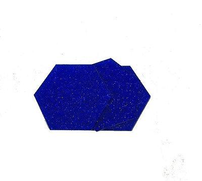 Acrílico glitter azul 2mm - Placa retangular 30x40cm