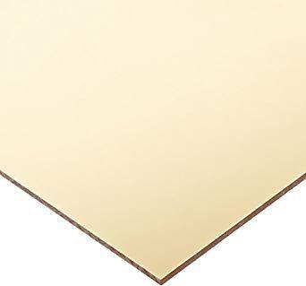 Acrílico adesivado 2mm 40x30cm Espelhado Dourado