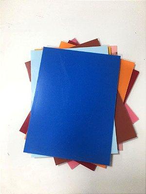 Acrílico 3mm - Placa retangular 40x30cm Azul Escuro