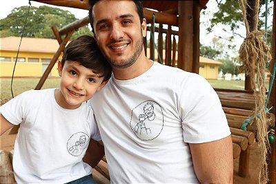 T-shirt Retrato Pai