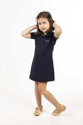 Vestido Gola Polo Infantil