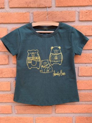 T-shirt Família Urso