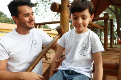 T-shirt Retrato Filho / a