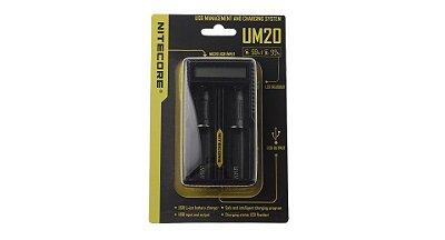Nitecore UM20 carregador inteligente de bateria