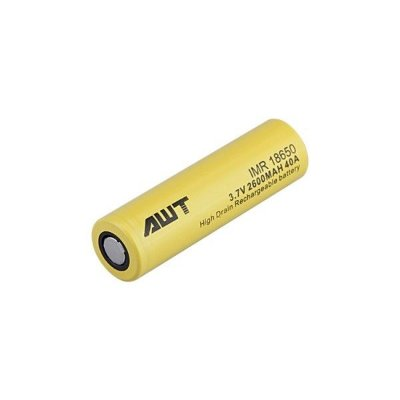 Bateria 18650 2600mAh 3.7V IMR18650 - 40A Flat Top AWT®