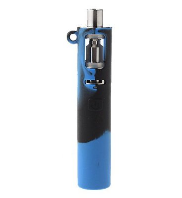 Capa de Silicone Protetora para Eleaf iJust S Bateria 3000mAh Azul c/ preto
