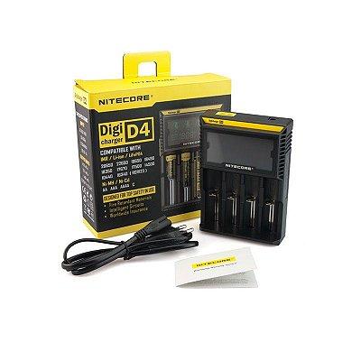 Nitecore® D4 Carregador Inteligente de Bateria