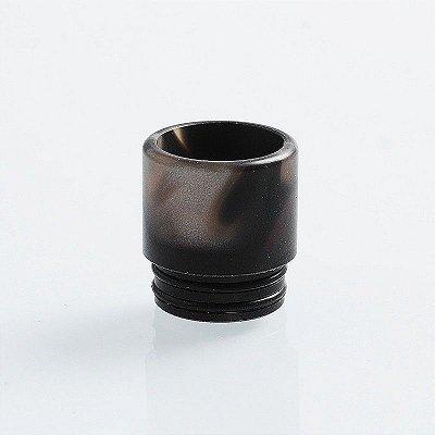 Drip Tip 810 - TFV8 / TFV12 / Goon / Kennedy - Preto mesclado, resina, 16mm