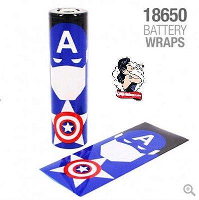 Vaper Wraper para baterias 18650 Capitão América