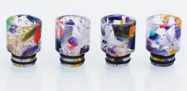 Drip Tip 510 - RDA / RTA / Sub Ohm - cor aleatória, resina, 16mm