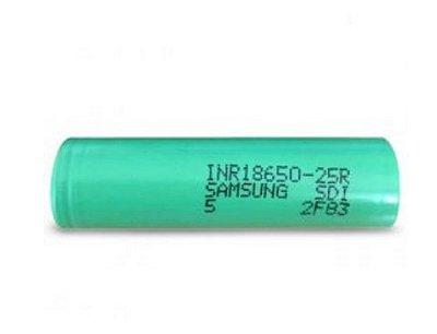 Baterias Samsung INR18650-25R 3.6V 2500mAh recarregável Li-Ion 30A