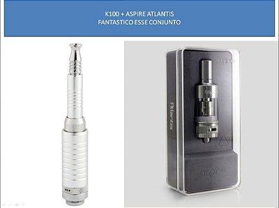 K 100 Telescópico 2200 mah + Atomizador Atlantis Aspire™ + Brinde