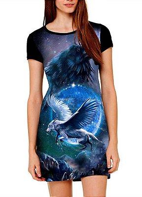 Vestido Printfull tipo camiseta t-shirt dress Lobo Alado