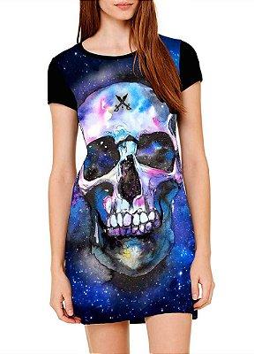 Vestido Printfull tipo camiseta t-shirt dress Space Skull