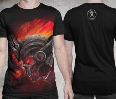 Camiseta Printfull Dark Planet