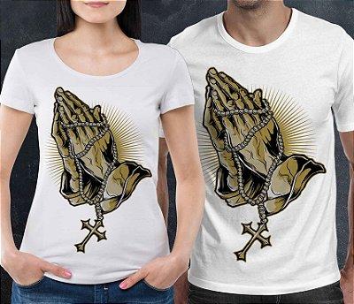 Camiseta Branca Printfull  Pray