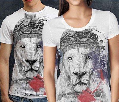 Camiseta Printfull Lion College