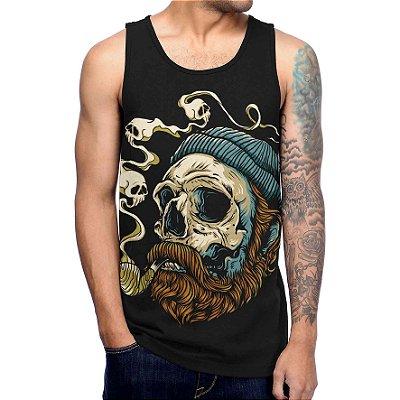 Regata Masculina Printfull Sailor Skull