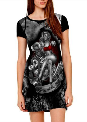 Vestido Printfull tipo camiseta t-shirt dress Sexy Engine