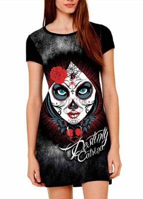 Vestido Printfull tipo camiseta t-shirt dress Destiny Catrina
