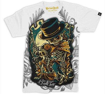 Camiseta Printfull Bone Bandits - cor branca