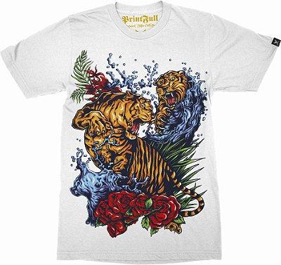 Camiseta Printfull Tigers Fight Tattoo