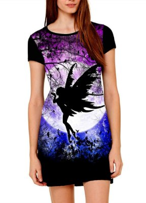Vestido Printfull tipo camiseta t-shirt dress Fairy Ursula
