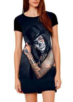 Vestido Printfull tipo camiseta t-shirt dress Mystery Painting
