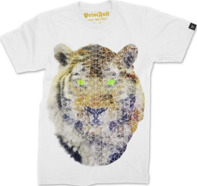 Camiseta Printfull Biomec Poly Tiger